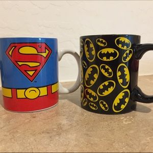 Superman Batman Coffee Mug DC Comics Superheroes